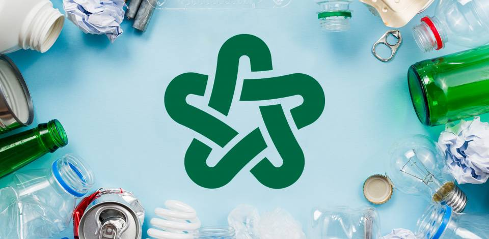 Recyclable Material Around Recycle Symbol